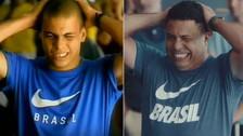 Ronaldo repitió su mítico comercial previo a Francia 1998