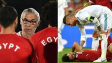 Entrenador de Egipto le respondió a Sergio Ramos por la lesión de Mohamed Salah