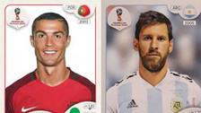 La evolución de Cristiano Ronaldo y Lionel Messi en el álbum Panini