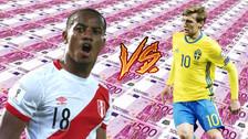 El podio de los jugadores más valiosos de la Selección Peruana y Suecia