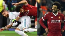 Mohamed Salah no olvida y le respondió irónicamente a Sergio Ramos