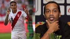 Ronaldinho elogió a Paolo Guerrero por su participación en el Mundial