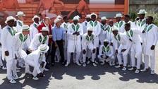Nigeria sorprendió con su vestimenta a su llegada a Rusia