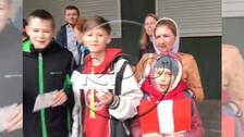 Niños rusos alientan a la Selección Peruana previo al Mundial