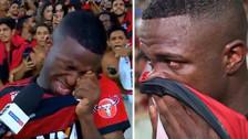 Rumbo al Real Madrid: el llanto de Vinicius Jr al despedirse del Flamengo