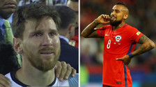 Provocador: el polémico mensaje de Arturo Vidal para Messi y la Albiceleste