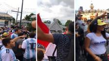 Hinchas se unieron en Moscú para entonar cánticos contra Chile