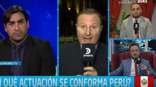 Periodistas de DirecTV discutieron al referirse a la Selección Peruana