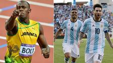 Usain Bolt reveló que es fanático de la Selección Argentina