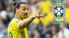 Ibrahimovic no irá a ver a Suecia y eligió a Brasil como el favorito
