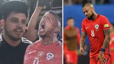 Arturo Vidal volvió a ser víctima de burlas de los hinchas argentinos