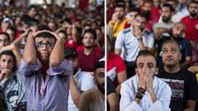 La tristeza de los hinchas egipcios tras perder en el último minuto