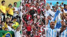 Hinchas de distintos países alentaron a la Selección Peruana en Rusia