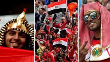 Como en casa: hinchas egipcios fueron locales en el duelo ante Uruguay