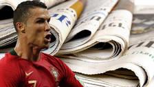 Cristiano Ronaldo se robó el show en la prensa mundial tras su triplete ante España