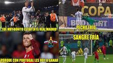 Cristiano Ronaldo es protagonista de los memes tras su hat trick ante España