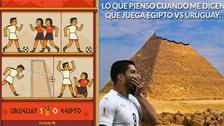 Uruguay es víctima de memes tras derrotar a Egipto en el Mundial