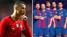 Estrella del Barcelona criticó a Cristiano Ronaldo por fingir faltas
