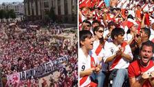 Hinchas peruanos llenaron las calles de Saransk en su trayecto al estadio