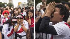 El sufrimiento de los hinchas tras la derrota de la Selección Peruana