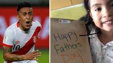 Christian Cueva recibió una sorpresa por el Día del Padre