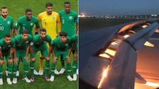 Avión de Arabia Saudita sufrió incendio en una de sus alas