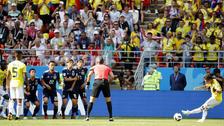 Juan Quintero anotó ante Japón y logró dos récords en los Mundiales