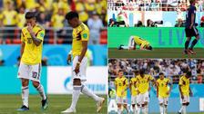 El lamento de Rodríguez y Falcao tras la derrota ante Japón