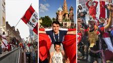 Hinchas peruanos calientan la previa al duelo contra Francia en el Mundial