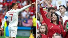 Georgina Rodríguez fue a Rusia para alentar a Cristiano Ronaldo
