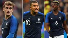 El posible once de Francia para enfrentar a la Selección Peruana