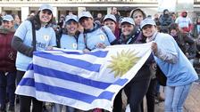 Así celebraron los hinchas el pase de Uruguay a octavos de final