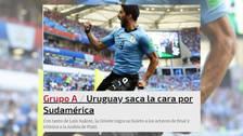 Prensa mundial destacó a Uruguay tras su pase a octavos de final en Rusia 2018