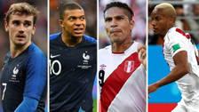 Las alineaciones de Perú y Francia para el partido en el Mundial Rusia 2018