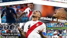 Se acabó el sueño: así informó la prensa mundial tras la eliminación de la Bicolor