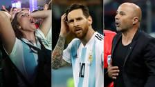 """""""En el abismo"""": El """"ridículo"""" de la Argentina de Messi y Sampaoli da la vuelta al mundo"""