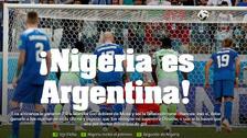 Prensa argentina celebró el triunfo de Nigeria ante Islandia