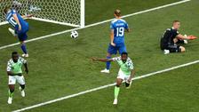 Ahmed Musa: El golazo de Nigeria ante Islandia contado en cinco imágenes