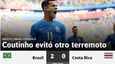 Coutinho evitó otro terremoto: qué dijo la prensa mundial tras el triunfo de Brasil