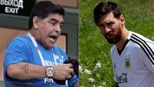 Maradona sobre Messi: No es líder, no pretendamos que gane solo el Mundial
