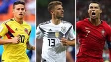 Puras estrellas: los máximos goleadores en actividad en los Mundiales