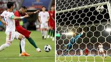 Ricardo Quaresma anotó un golazo con disparo 'tres dedos' ante Irán