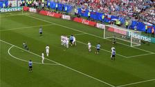 Así fue el golazo de tiro libre de Luis Suárez ante Rusia