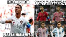 Cristiano Ronaldo es víctima de memes tras fallar un penal ante Irán