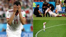 Las lágrimas de los jugadores de Irán tras ser eliminados del Mundial