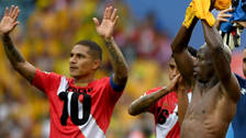 Guerrero festejó el triunfo de Perú con la camiseta de Farfán