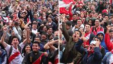 Así celebraron en el Perú el golazo de André Carrillo ante Australia