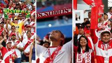 Así fue la fiesta de la hinchada peruana en las tribunas en Rusia 2018
