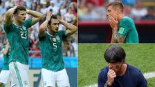 El lamento de los jugadores de Alemania tras la eliminación del Mundial