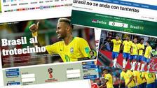 Así informaron en el mundo la clasificación de Brasil en Rusia 2018